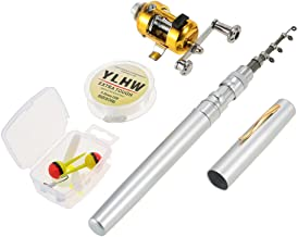 Lixada Pen Fishing Rod Reel Combo Set Telescopic Pocket Fishing Rod Pole + Reel Aluminum Alloy Fishing Line Soft Lures
