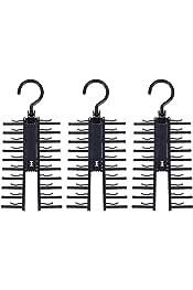 BUIDI 1Pc 5 Ranuras Anillo Cuerda Soporte Corbatas Percha Cintur/ón Estante Bufandas Organizador de suspensi/ón