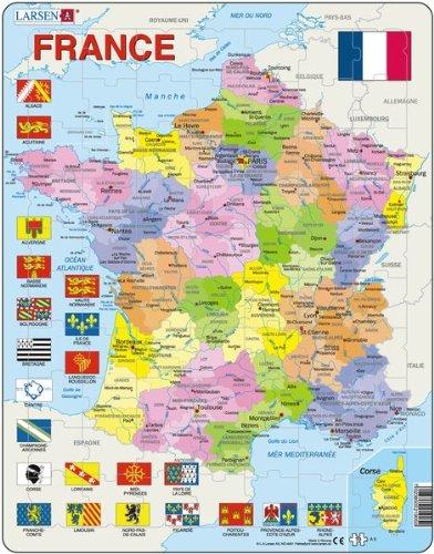 Larsen Puzzle A5 - Frankreich Politisch