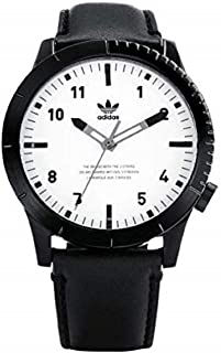 adidas Watches Cypher_LX1. Men's Premium Horween Leather Strap Watch, 22mm Width (42 mm).