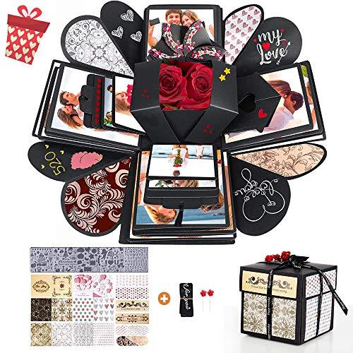 Caja de Regalo Creative Explosion, Explosion Box, Caja Sorpresa Creativa, Caja Regalo Fotos, Caja de Regalo Sorpresa, Caja de Regalo Para Cumpleaños, Boda, Día de San Valentín, Aniversario, Navidad