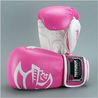 Wazenku ボクシンググローグ パンチングミット ずれにくく 厚いクッション ボクシングジム ボクシング ムエタイ テコンドー サンダ MMA 総合格闘技 (色 : ピンク, サイズ : 16OZ)