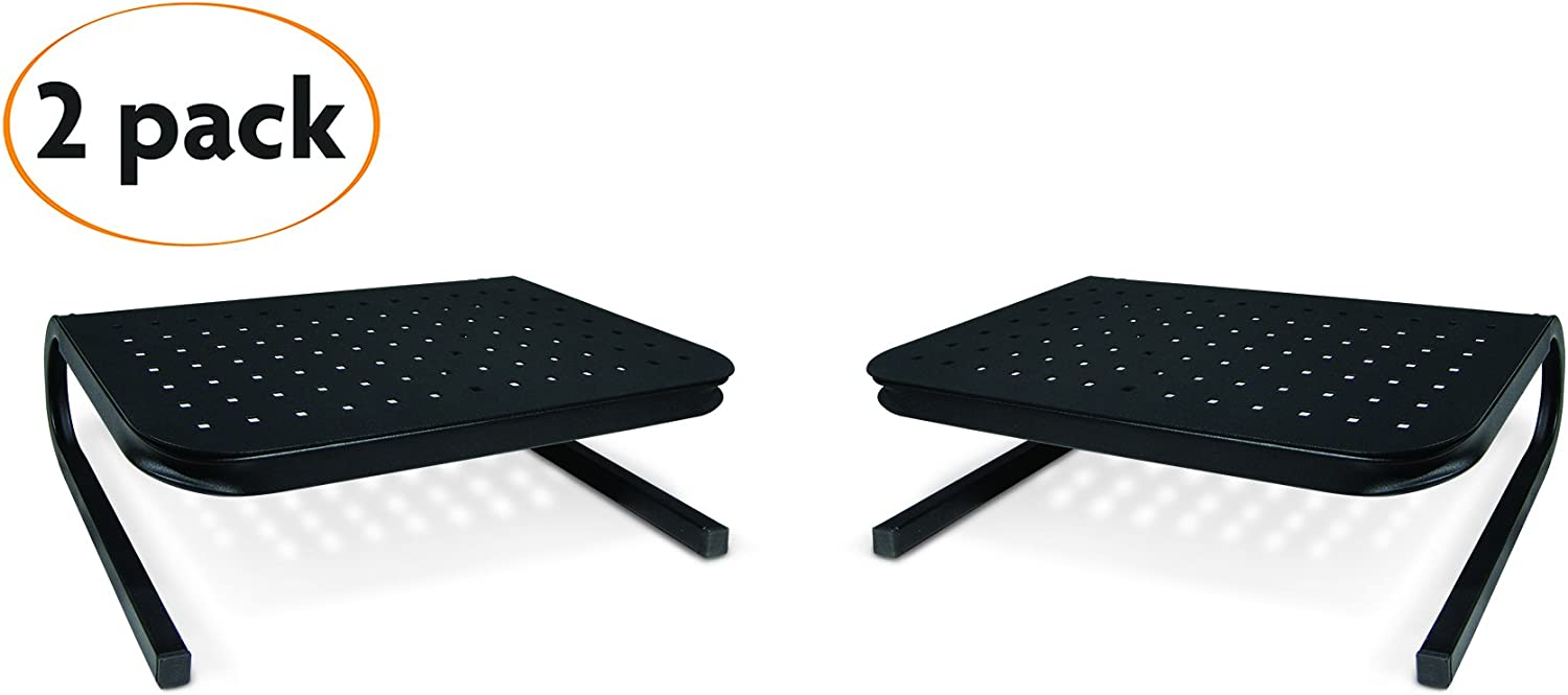 Handstands Metal Monitor Stand Holds Up to 80lbs - 2-Pack Value