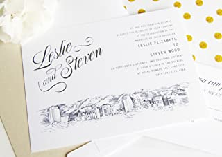 Salt Lake City Skyline Wedding Invitations Package (Sold in sets of 10 Invitations, RSVP Cards and Envelopes)