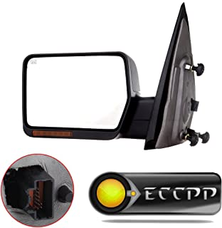 ECCPP Towing Mirror for 2004 2005 2006 Ford F150 Truck Left Driver Side Power Heated LED Turn Signal Lights Side Mirror