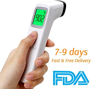 2020 New Forehead Thermometer, FDA Approved, Non-Contact Infrared Forehead Thermometer with Digital LCD Display, Multifunction Handheld Forehead Temperature Gun for Baby Kids and Adult, Fast Delivery