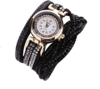 Yaida💞💞Women Luxury Crystal Women Gold Bracelet Quartz Wristwatch Rhinestone Watches
