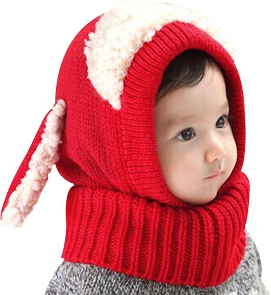 en laine Minetom Cagoule /écharpe avec oreilles style mouton pour enfant