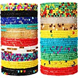 20 Pieces Waist Beads African Belly Bead Body Chain Jewelry for Women (Colorful, 31.5 Inch)