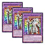 【 3枚セット 】遊戯王 英語版 SP15-EN030 Gem-Knight Master Diamond ジェムナイトマスター ダイヤ (シャターホイルレア) 1st Edition