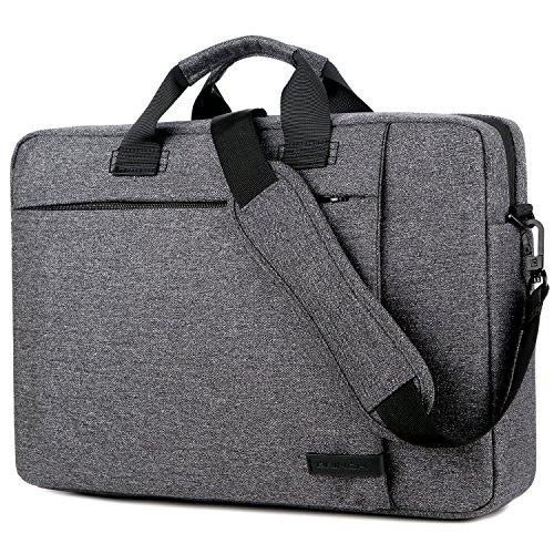 Laptop Bag 15.6 Inch,BRINCH Stylish Water Resistant Laptop Messenger Bag Shoulder Bag Case Briefcase for 15-15.6 Inch Laptop/Notebook/MacBook Ultrabook Chromebook Computer Women/Men,Dark Grey