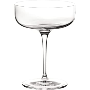 2 Pack w// Pourer 601602 Libbey Speakeasy Coupe Glass 7 oz