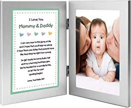 New Parents Gift Sweet Poem from Daughter Add Photo to Frame