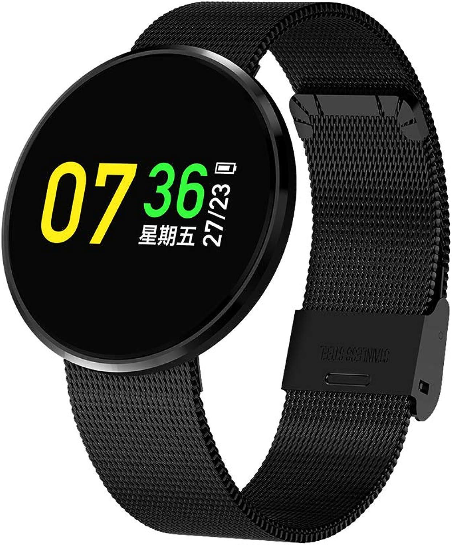 WZJ IP67 wasserdichte SmartWatch Fitness Tracker Unterstützung Blautdruck Herzfrequenz Schlafüberwachung Kompatibel mit Android und IOS,schwarz