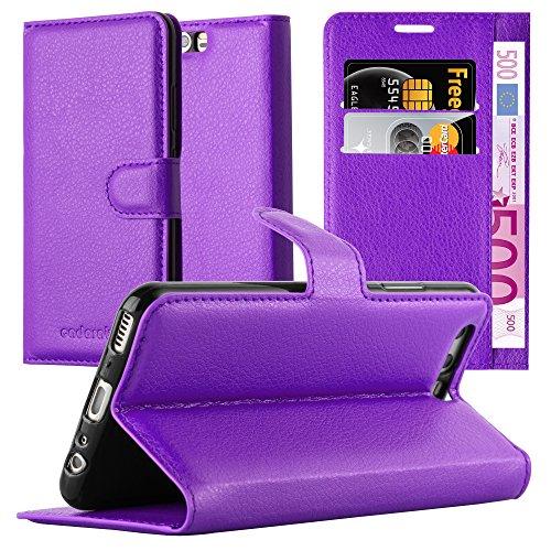 Preisvergleich Produktbild Cadorabo Hülle für Huawei P10 Plus in Mangan VIOLETT - Handyhülle mit Magnetverschluss,  Standfunktion und Kartenfach - Case Cover Schutzhülle Etui Tasche Book Klapp Style