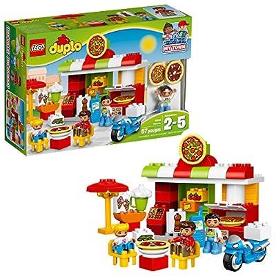 LEGO DUPLO My Town Pizzeria 10834, Preschool, Pre-Kindergarten Large Building Block Toys for Toddlers (57 Pieces)