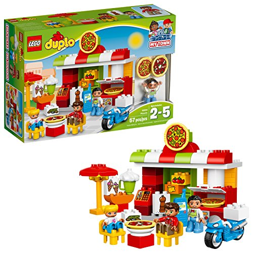 LEGO DUPLO My Town Pizzeria 10834, Preschool, Pre-Kindergarten Large Building Block Toys for Toddlers (57 Pieces) (Discontinued by Manufacturer)