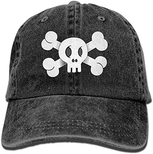 Pirate Skull Flag White Flagga-01.PNG Gorras de béisbol de vaquero para adultos Sombreros de mezclilla para hombres Mujeres