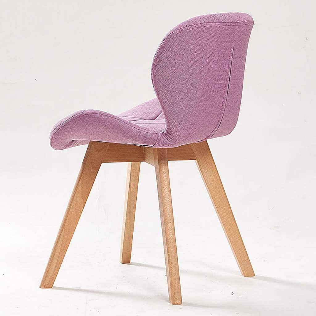 Bois Massif Chaise De Salle À Manger, Tabouret De Salon Moderne Meubles 45cm Pour Table De 75cm (Color : Sky blue) Pink×2