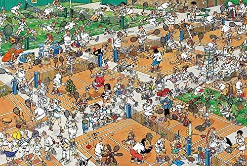 3D Puzzle Di Legno Puzzle Puzzle 1000 Pezzi Di Puzzle In Legno Per Adulti Decompressione Puzzle Per Bambini Giocattoli Educativi Campo Da Tennis Affollato