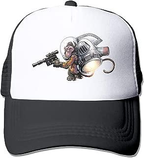 Jetpack Space Monkey Trucker Hat Snap Back Sun Mesh Baseball Cap Hip Hop Flat Hats for Men and Women
