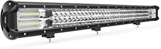 Nilight 18006C-A 34Inch 468W Triple Row 36200LM Flood Spot Combo Beam Bar Driving Boat Super Bright Led Off Road Lights for Trucks,2 Years Warranty