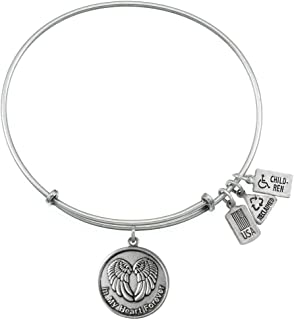 Wind and Fire In My Heart Forever Silvertone Charm Bangle
