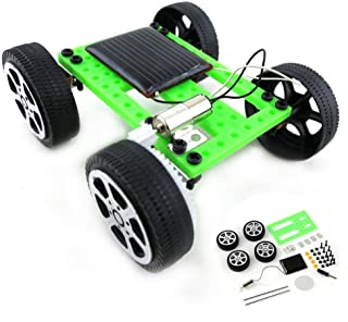 Elevin(TM)👍👍 1 Set Mini Solar Powered Toy DIY Car Kit Children Educational Gadget Hobby Funny