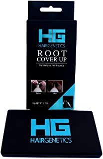 (Black) - Hair Genetics Root Cover Up Hide Your Grey Hairs Roots NEW Advanced Breakthrough in Mineral Powder Technology, quickly and Easily get Professional Natural looking Results in Seconds Touch Up Powder Available in Dark Blonde, Medium Brown, Dark Brown, B ..