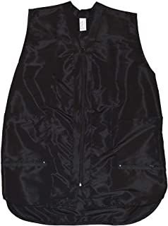 Betty Dain Professional Zip Front Salon Stylist Vest, Black, 2XL