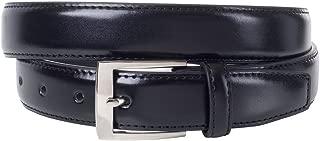 Sportoli Mens Classic Genuine Leather Metal Buckle Uniform Casual or Dress Belt