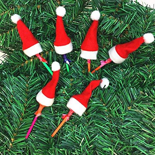ZHANGYY Santa Doll Gift 10Pc Juego de vajilla Decorativa de Navidad Sombrero de Navidad Herramienta de Almacenamiento Regalo de Fiesta Adorno de Navidad Decoraciones navideñas Hogar, 10 pi