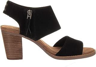 Toms - Women's Majorca Cutout Sandal, 9 B(M) US, Black Suede