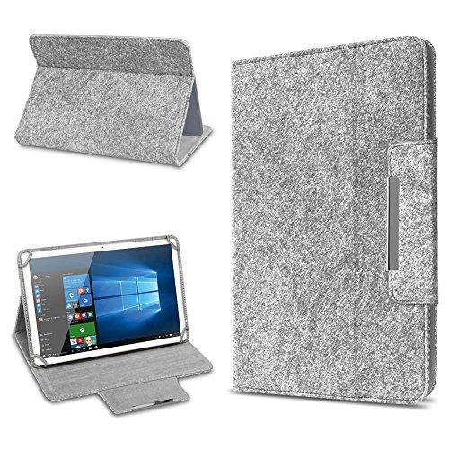 UC-Express Tablet Schutz Hülle für 10 Zoll Filz Tasche Schutzhülle Hülle Cover Standfunktion, Tablet Modell für:Odys Score Plus 3G, Farbe:Hell Grau