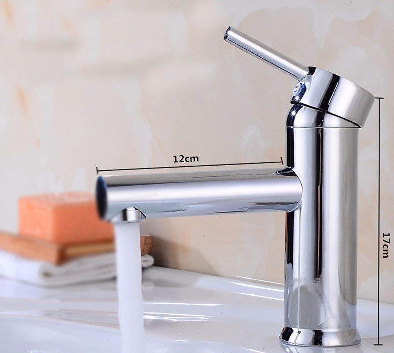 CFHJN HOME Full Copper Single Handle Single Hole Hot And Cold Bathroom Wash Basin Bathroom Sink Faucet