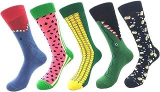 5 pares unisex calcetines largos divertidos de algodón para hombre mujer adulto calcetines altos otoño invierno calcetines ciclista futbol running deporte