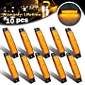 10x 6 LED Clearence Truck Bus Trailer Side Marker Indicators Light Tail Taillight Brake Stop Lamp 12V