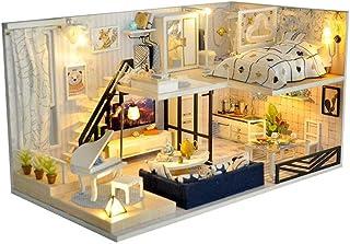 XYZMDJ Romantisk och trevlig dockhus miniatyr-gör-det-själv hemsats kreativt rum perfekt gör-det-själv present för vänner,...