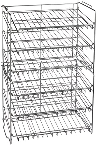 Atlantic Steel 6-Tier Gravity-Fed Double Can Rack $28 FS