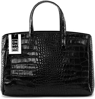 199b75bddc OH MY BAG Sac à main en cuir façon croco Be Lady