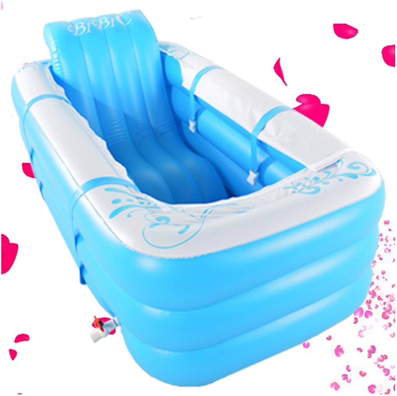 Bathtubs Soaking Baths Inflatable Bath Tub Adult Tub Stylish Home Bath Comfortable Folding Bath Tub bluee Inflatable Relieve Fatigue