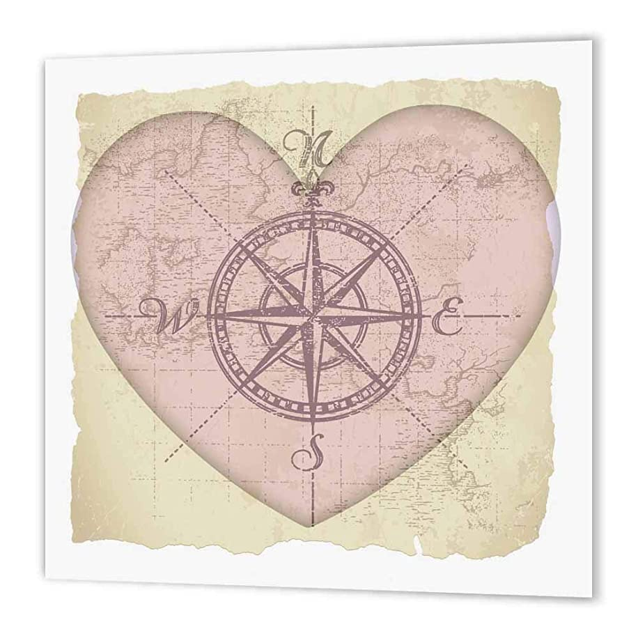 3dRose ht_38500_3 Map of The Heart-Love Art-Romantic-Valentines Day-Iron on Heat Transfer Paper for White Material, 10 by 10-Inch