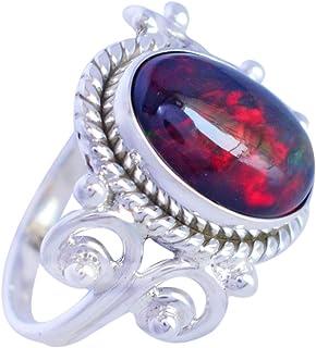 Ravishing Impressions Jewellery Anillo de plata de ley 925 con ópalo etíope exclusivo, joyería de diseñador FSJ-4993