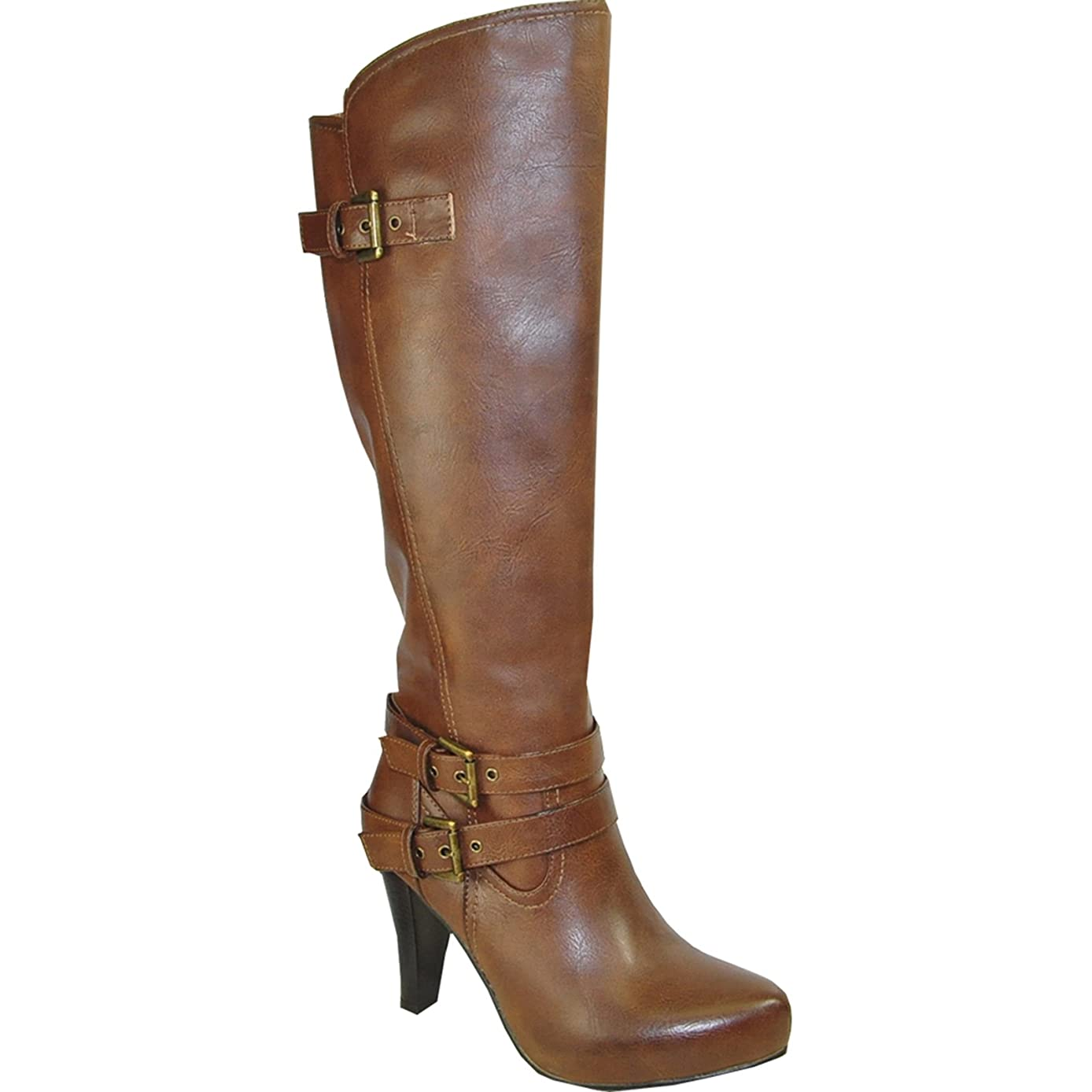 VANGELO Women's Dress Boots SD4401 Fashion Heel Boots with an Almond Toe