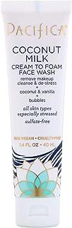 Pacifica, Coconut Milk, Cream to Foam Face Wash, 1.4 fl oz (40 ml)
