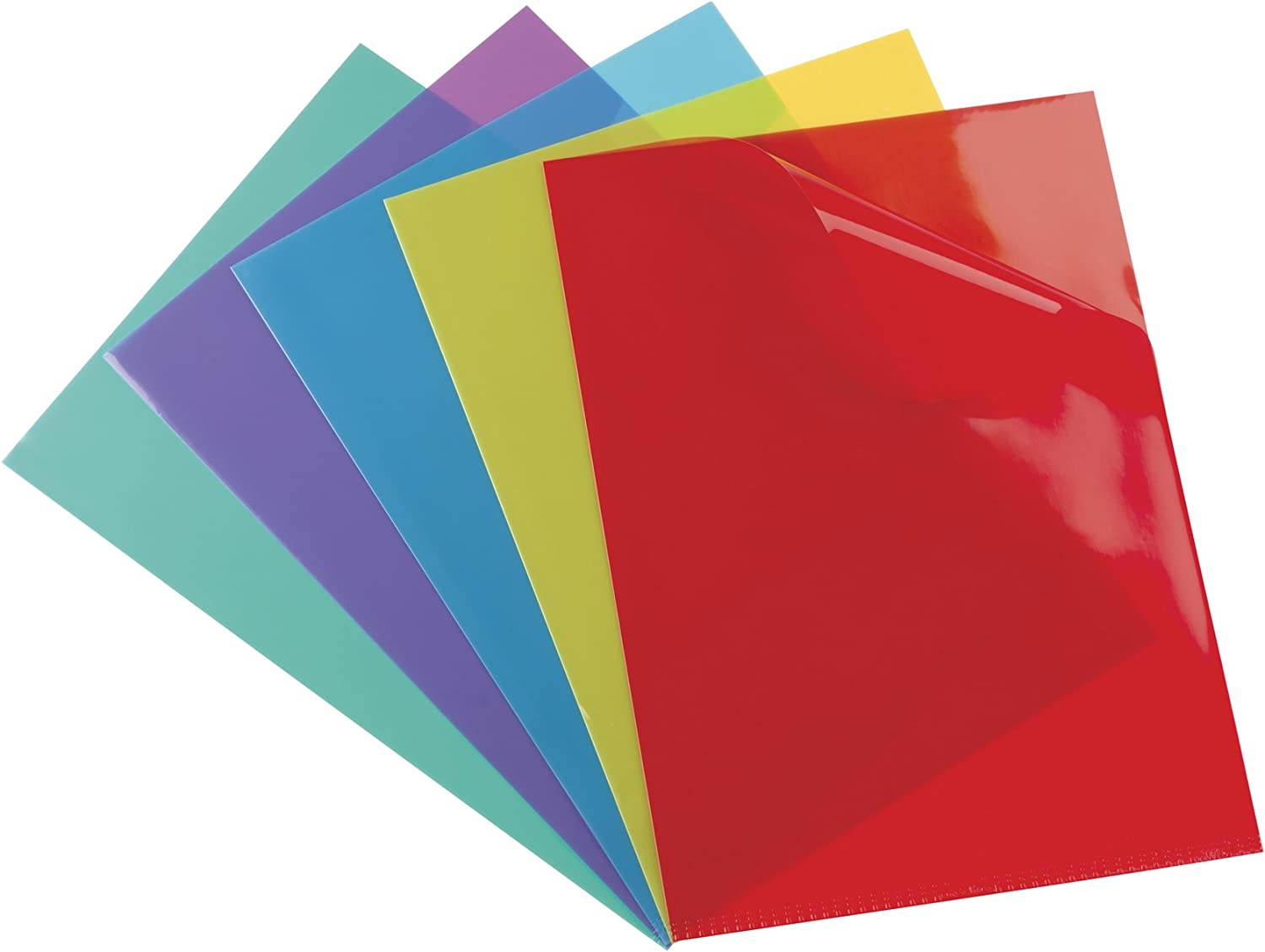Bombing free shipping Elba Document Covers A4 Overseas parallel import regular item PVC 15 Assorted 100 Pack Colours of