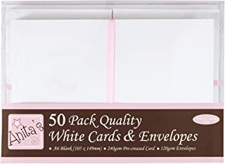 5 x 7 Bazzill Basics Paper 10 Piece American Crafts Cardmaking Bazzill Cards and Envelopes White Scalloped