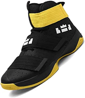 No.66 TOWN Unisex Fashion High Top Running Sneakers Velcro Basketball Shoes