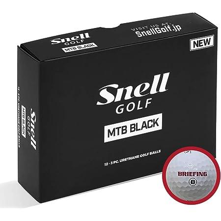 BRIEFING x Snell MTB BLACK-白(1箱12個入り) ブリーフィングロゴ日本正規品スネルゴルフ MTBブラック(白)BKW-BRFG