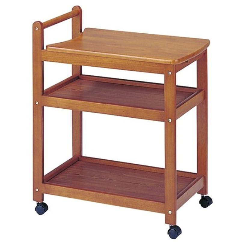 非常に突然一掃する木製キッチンワゴン 3段 キャスター付き 収納 スライド ポット台 ブラウン